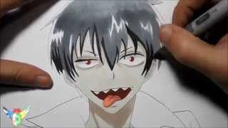 Copic speed draw Staz Charlie Blood from Blood Lad