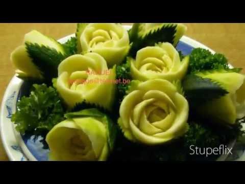 Decoratief Snijden Van Groenten En Fruit Youtube