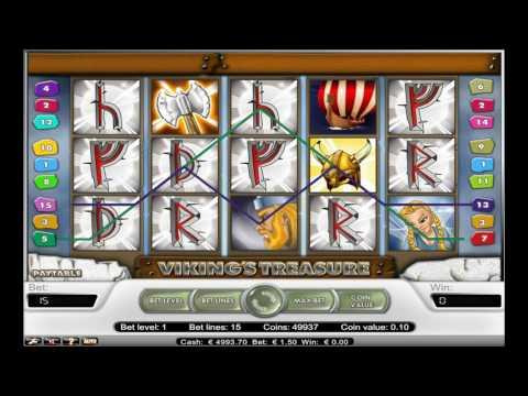 Как играть в игровой автомат The Vikings Treasure. Обучающее видео.