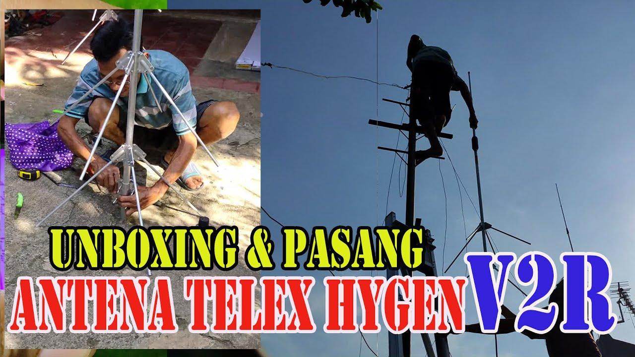 Unboxing & Ganti Antena Telex HYGEN V2R Loading Besar Made ...