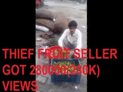 Thief fruit seller caught using chemical in fruits