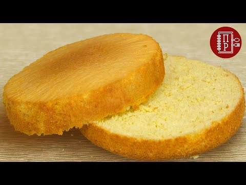 Как сделать бисквитный корж