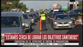 Habla el ministro de Seguridad bonaerense Sergio Berni en un control en Panamericana