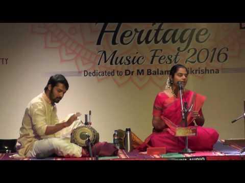 Carnatic Vocal  L Vidya Kalyanaraman L Global Heritage Music Fest 2016 L Web Streaming