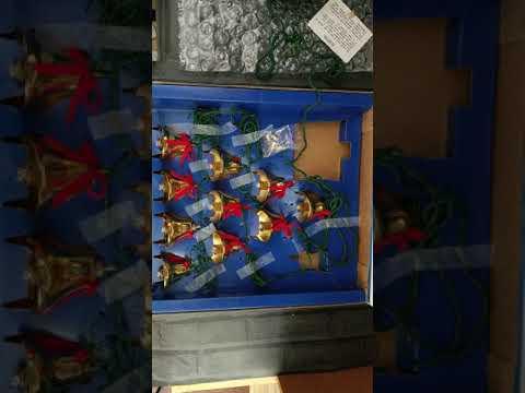 Mr. Christmas Bells of Christmas lighted Brass Musical Bells 15 songs harmony