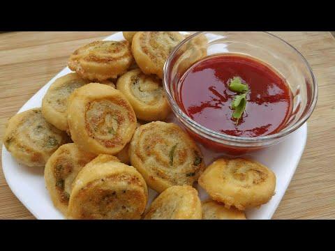 Potato Pinwheels Recipe   समोसा  पिनवील्स   Samosa Pinwheels   Aloo Bhakarwadi For tiffin box
