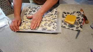 How to make beeswax cotton food wrap with either an iron or ...