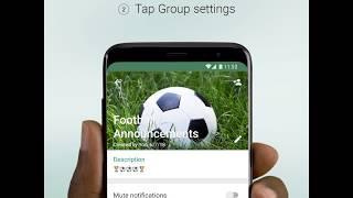 Gruppe admin nur messaging über WhatsApp