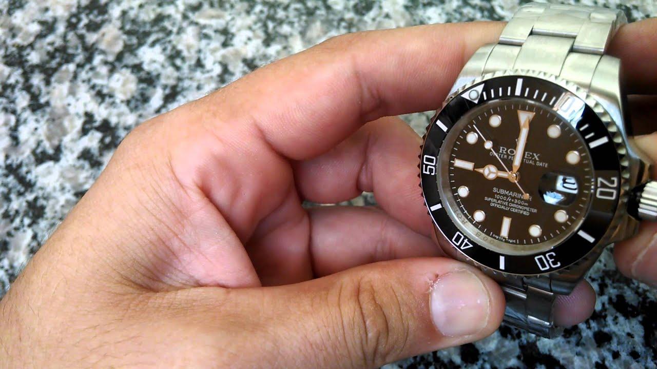 9b2129c1fcb Rolex Submariner 1ª linha - Ajustar horas - YouTube