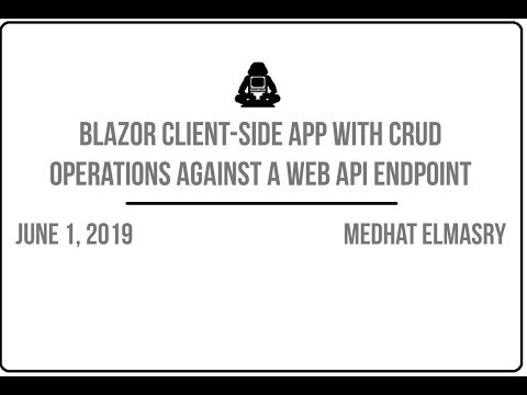 Blazor client-side app with CRUD operations against a Web