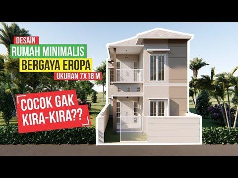Rumah Minimalis Bergaya Eropa Ukuran 7x18 Youtube