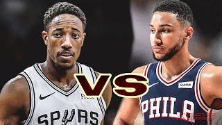 San Antonio Spurs vs Philadelphia 76ers - Regular Season - Nov, 22 - NBA 2K20