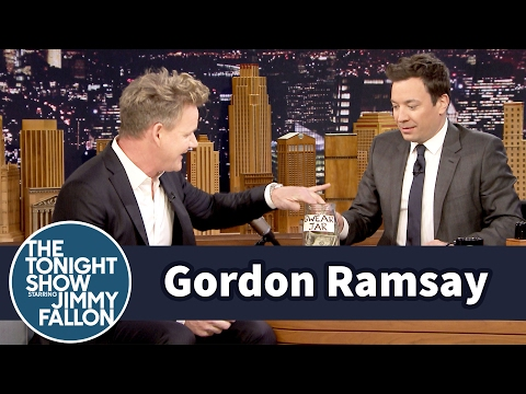 Thumbnail: Jimmy Interviews Gordon Ramsay with a Swear Jar