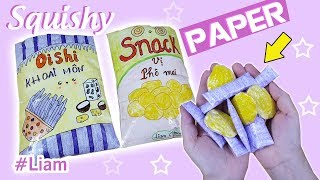 DIY Paper Squishy 3D SNACK | Liam Channel