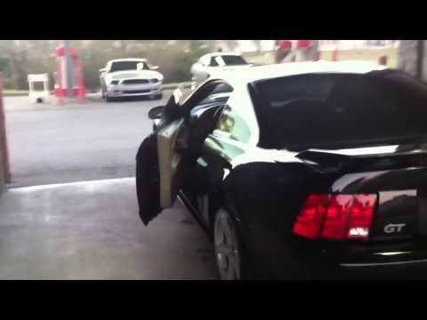 MUSTANGS TAKE OVER CAR WASH!