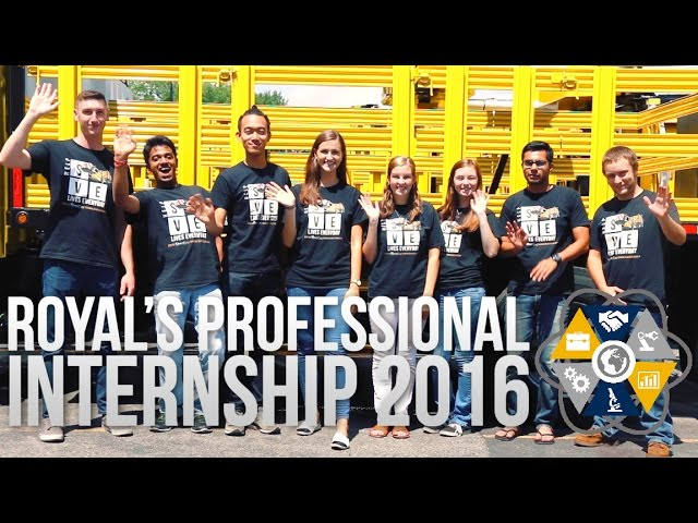 Royal's Professional Internship 2016