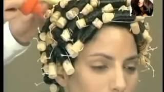 видео где сделать химическую завивку средних волос