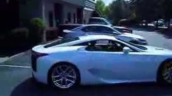 The Lexus LFA Test Drive arrives at New Country Lexus of Latham New York