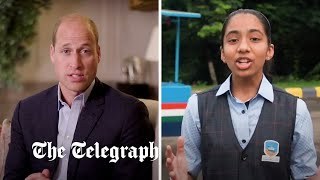 video: Prince William's £1 million eco-prize could go to 14-year-old schoolgirl