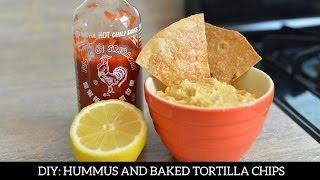 Homemade Hummus And Baked Tortilla Chips