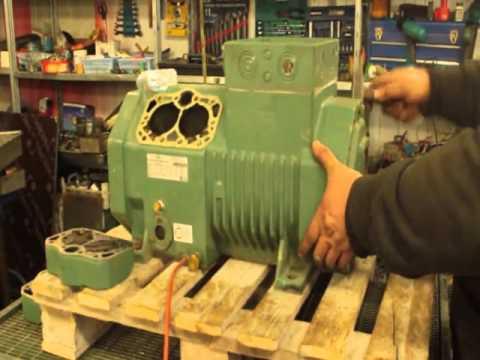Диагностика и ремонт полугерметичных компрессоров. BITZER