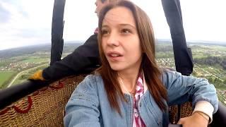 ОБЗОР на воздушный шар! Летали на воздушном шаре над монастырем в г.Истра!!