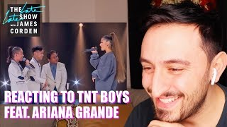 AMERICAN REACTING TO TNT BOYS FEAT ARIANA GRANDE