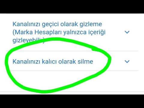 YOUTUBE KANAL SİLME %100 DENENDİ