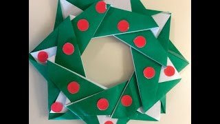 Origami For Beginners - Holiday Wreath