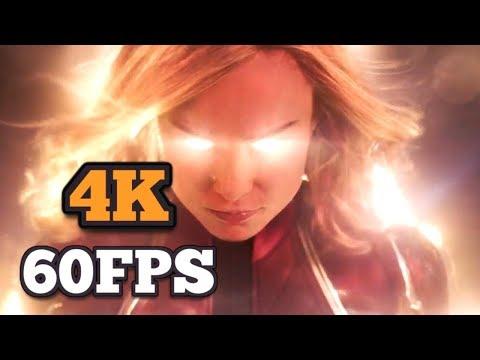 [4K/60FPS] Captain Marvel | Official Trailer #1 | 2018
