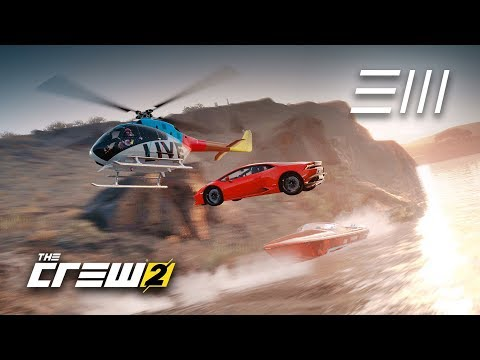The Crew 2 - Huracán vs Helicopter vs Powerboat   Which is the Fastest Vehicle to Area 51?  