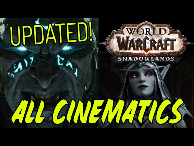 All Shadowlands Cinematics - Full Movie (Up to Nathria)