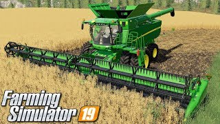 Żniwa potężnym kombajnem - Farming Simulator 19 | #71