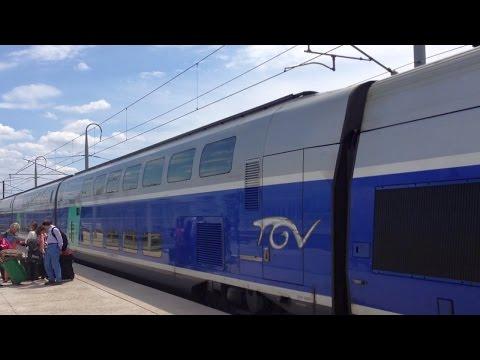 Paris - Avignon on French TGV High Speed Train