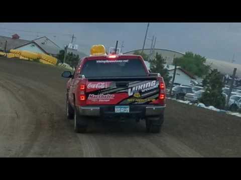 Marthaler Chevrolet of Glenwood Pace Truck at Viking Speedway.   5/28/17