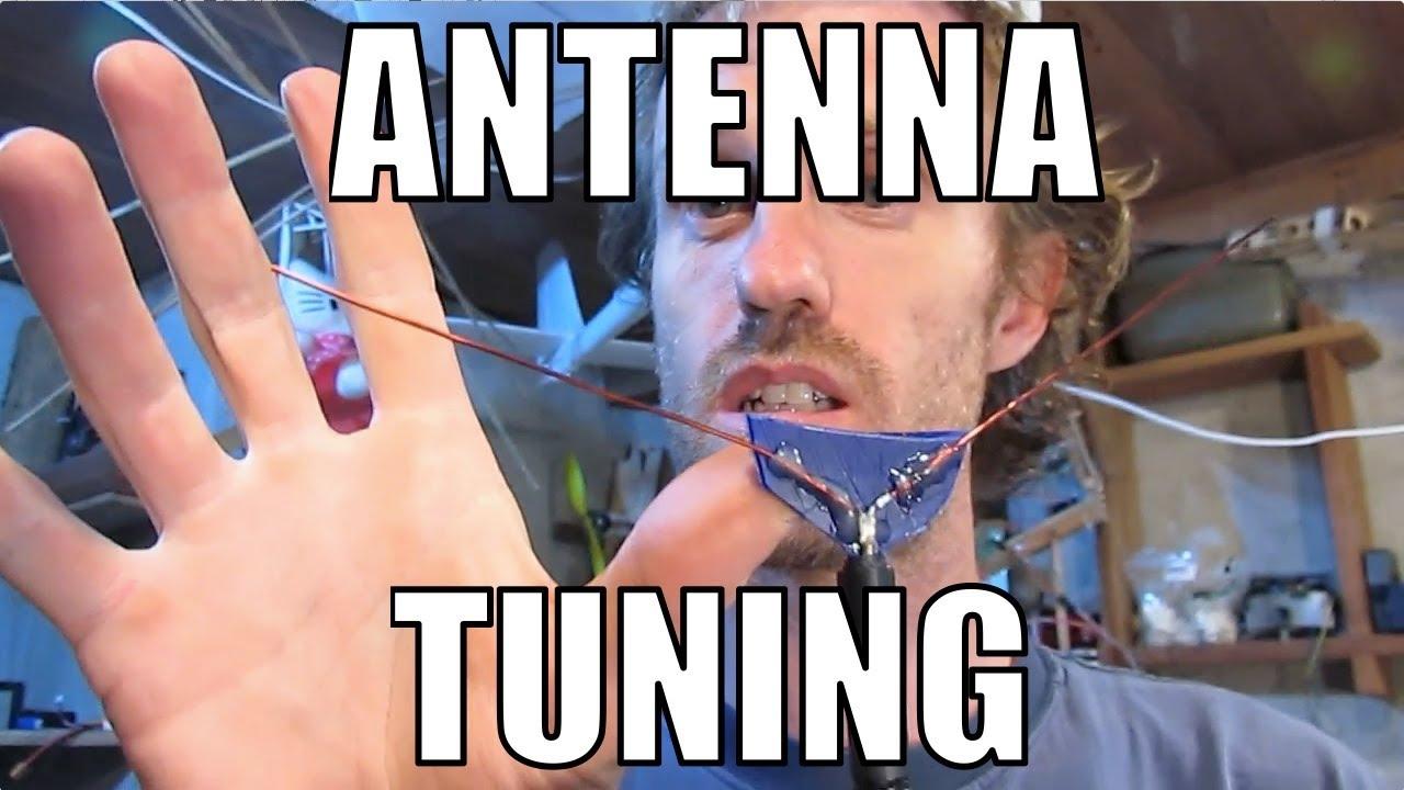 Basic Antenna Tuning. 433Mhz Inverted Vee. RCHacker #37 - YouTube