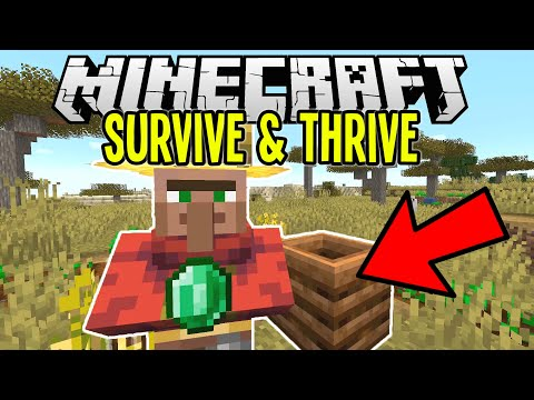 Changing a VILLAGER'S JOB for CRAZY EMERALDS | Minecraft Survival Let's Play Tut