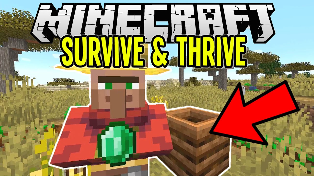 Changing A Villagers Job For Crazy Emeralds Minecraft Survival Lets Play Tutorial Ep 5