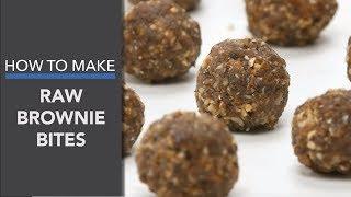 Raw Vegan Mini Brownie Bites Recipe