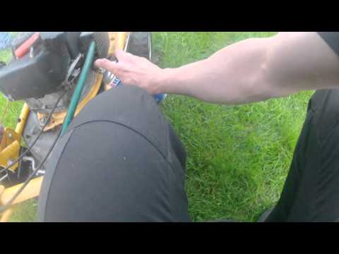 Fun with a lawn mower (SV150), dieseling and oxygen feed