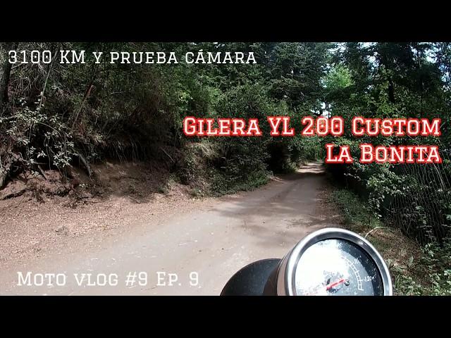 3100 km Gilera YL 200 Custom La Bonita y Prueba Cámara  Go Pro Hero | Motovlog #9  S1 Ep. 9