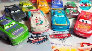 Disney Pixar cars 3 fireball beach racers Michael Rotor #39, Paul Conrev #90 2018 single packs