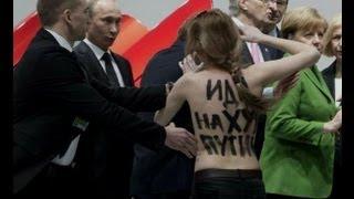FEMEN напали на Путина и Меркель в Германии(Эксклюзив., 2013-04-08T15:56:41.000Z)