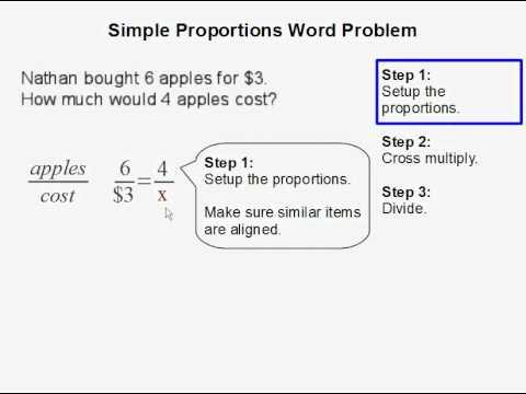 simple proportions word problem youtube. Black Bedroom Furniture Sets. Home Design Ideas