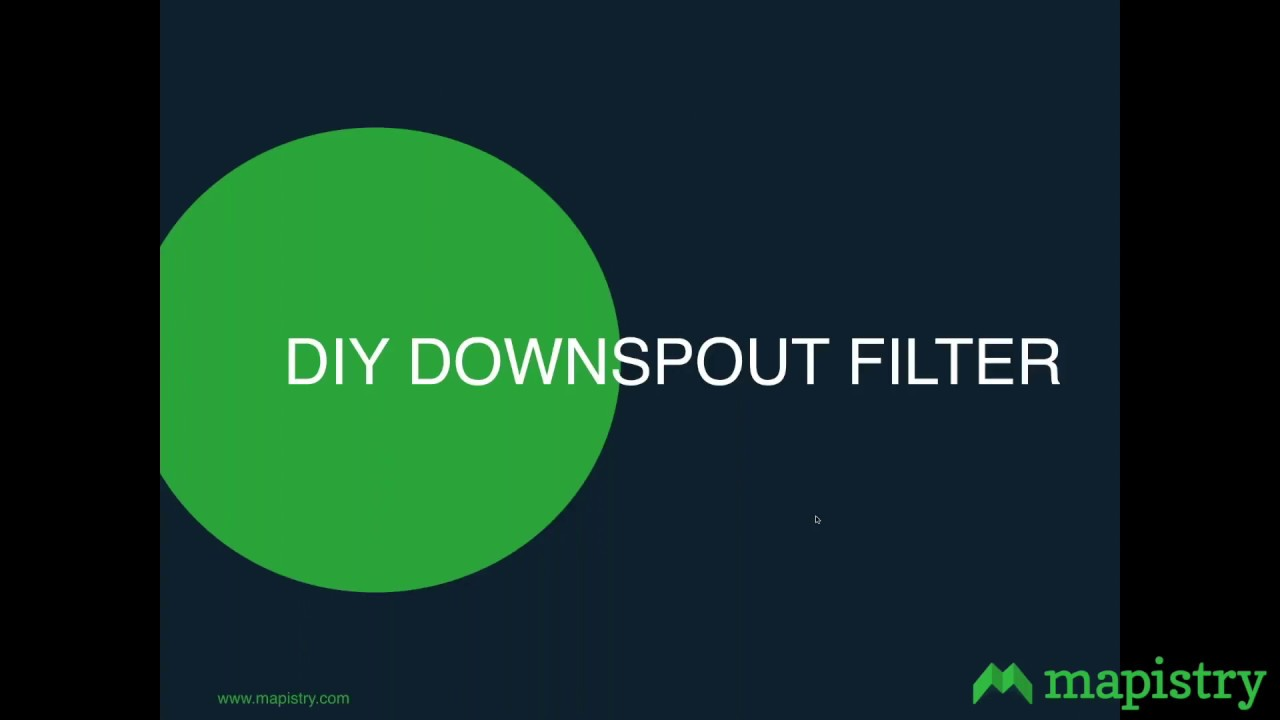 DYI Stormwater Treatment Downspout Filter