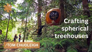 Boatmaker blends math & craft in his hanging treehouse spheres
