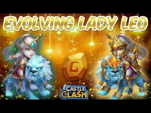 [Castle Clash Raw]   Evolving Lady Leo!