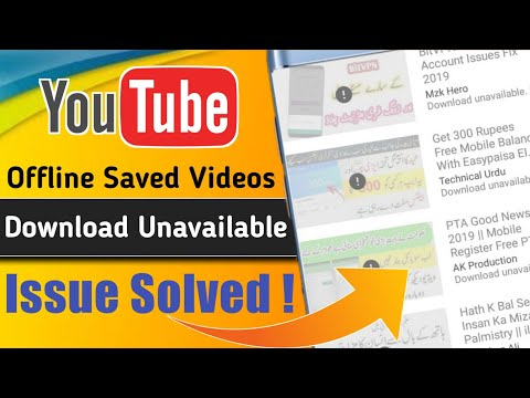 youtube offline saved videos unavailable problem solve || Youtube offline videos expired || 2019