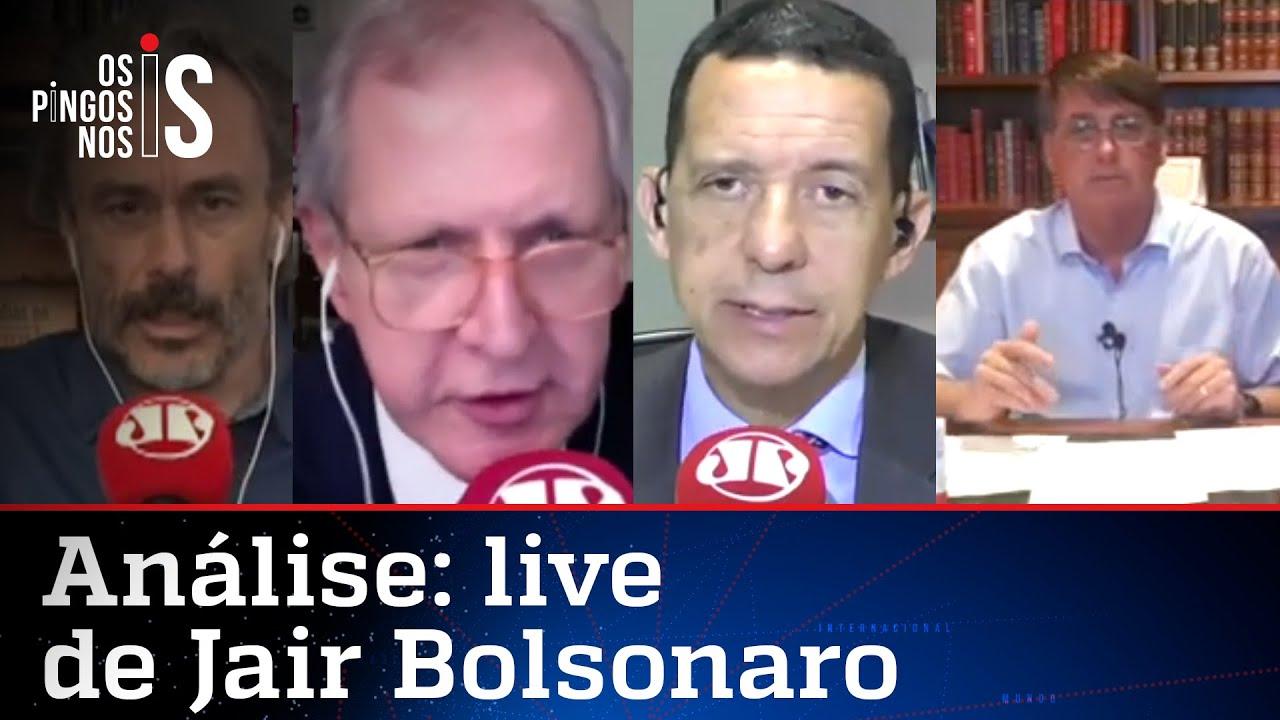 Comentaristas analisam live de Bolsonaro de 13/08/20