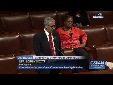 Ranking Member Scott Speaking in Favor of Crucial Retirement Protections
